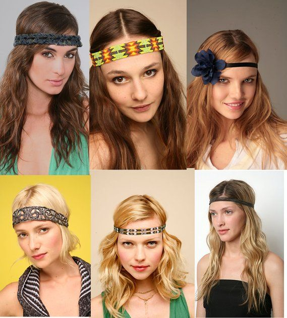 Fabulous Hippie Headbands Get Your Groove On Shining Gleaming Hairstyle Inspiration Daily Dogsangcom