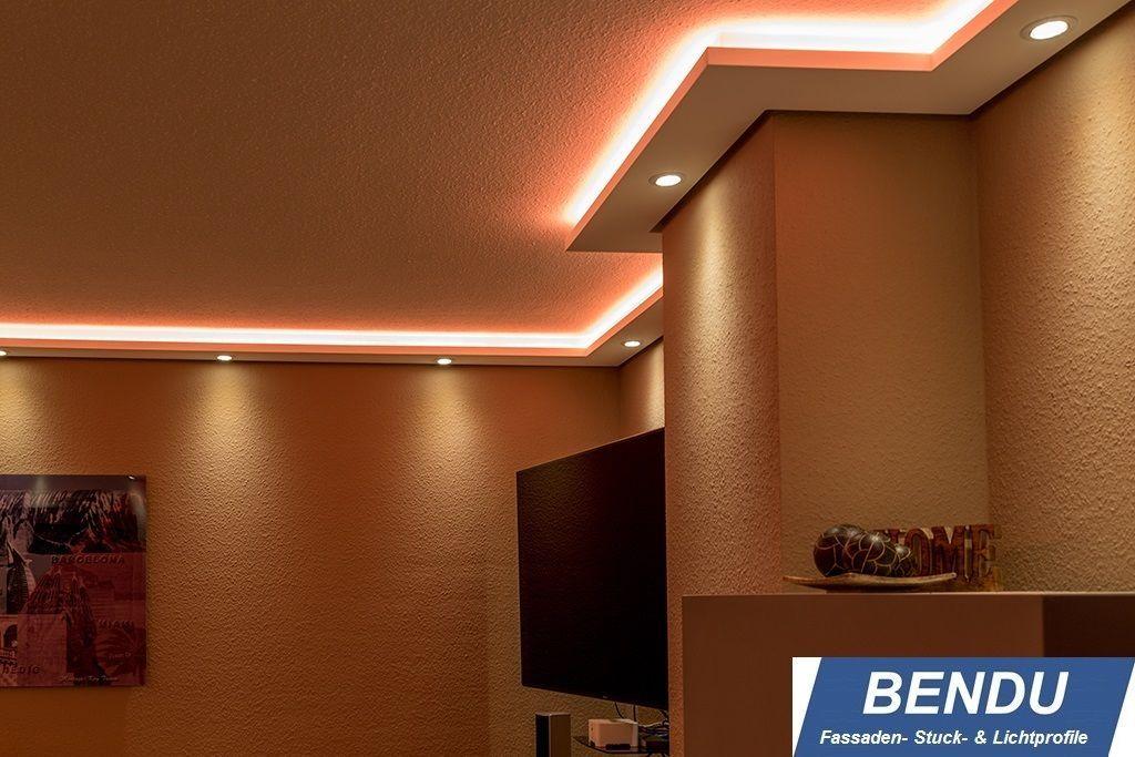 BENDU Stuckleisten Für Indirekte LED Beleuchtung Lichtprofle Aus Hartschaum