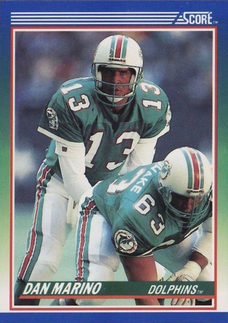 1990 Score 13 Dan Marino Football Card in 2020 Football