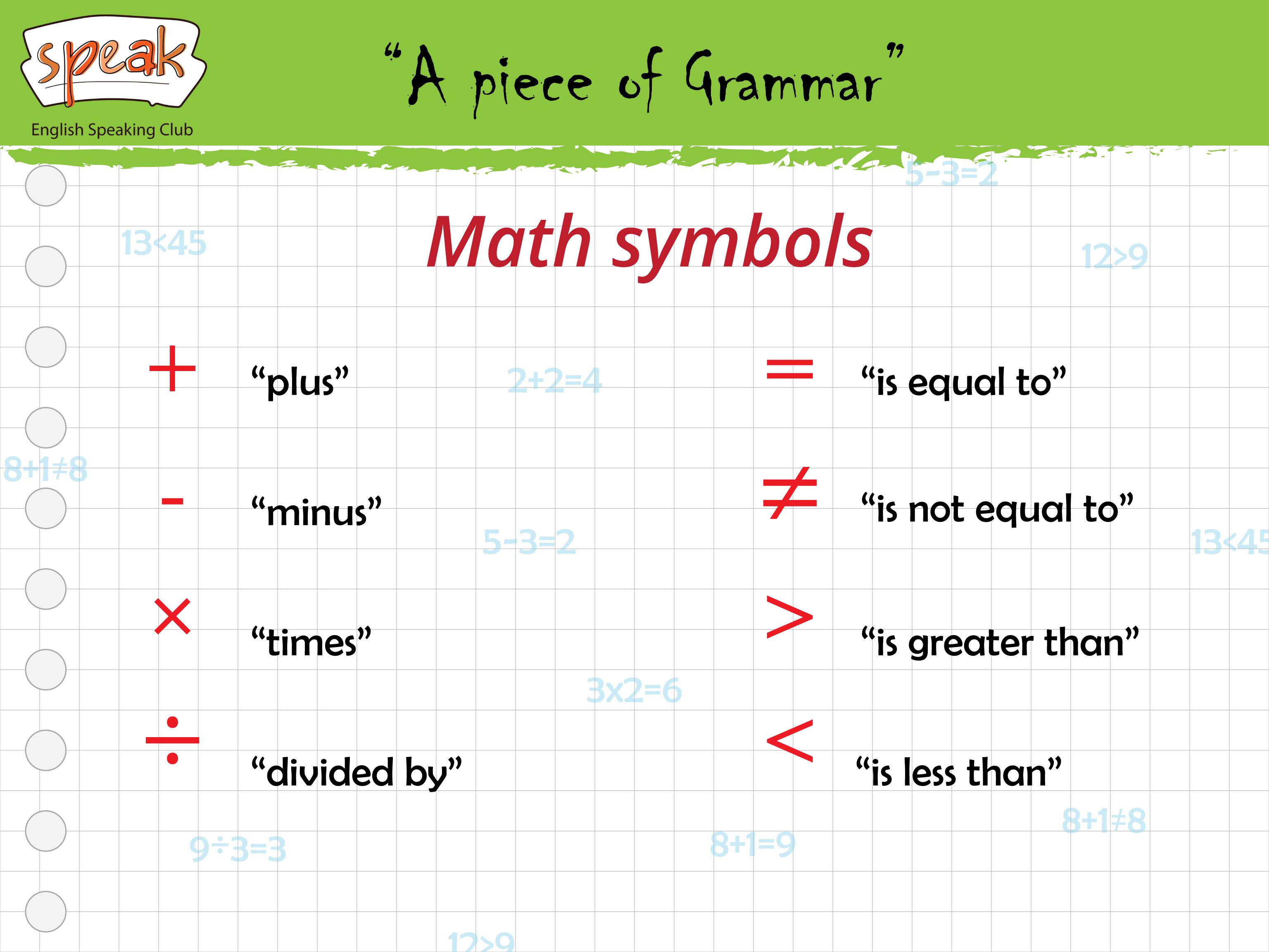 A piece of grammar math symbols grammar tips pinterest math visual dictionary a piece of grammar math symbols biocorpaavc Images