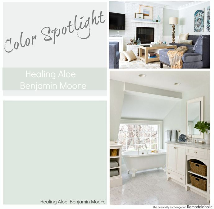 Paint Color Spotlight Healing Aloe From Benjamin Moore A Very Light Gray Green Blue Transitional Great For Rooms With Lots Of Natural Lighting And