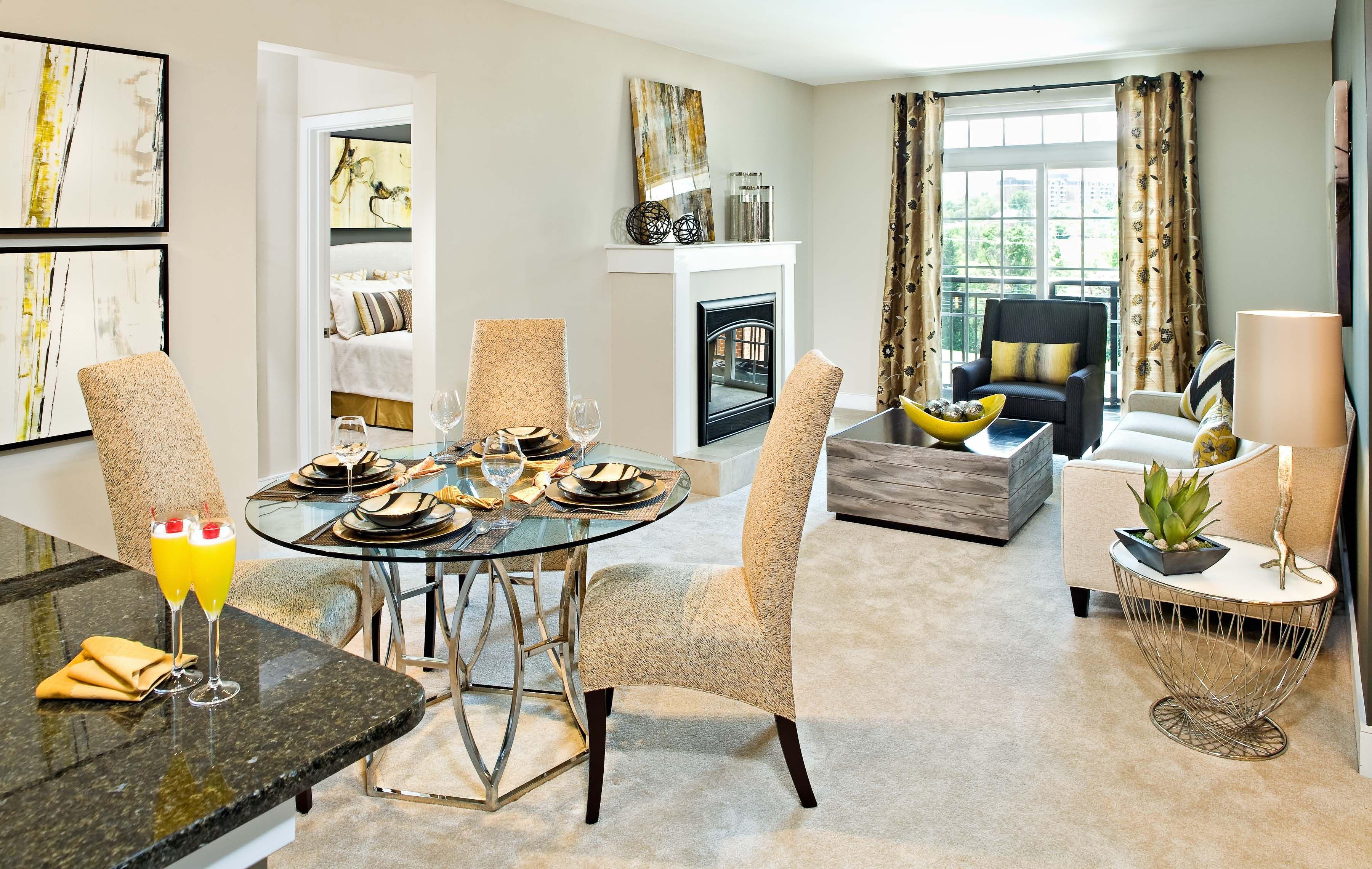 Living Room Luxury apartments, Classic interior decor