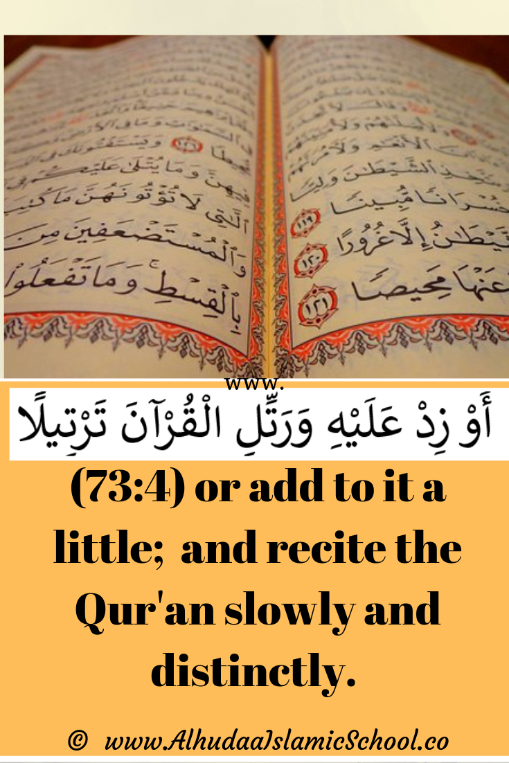 Quran reading has some etiquettes  Click to read two of them