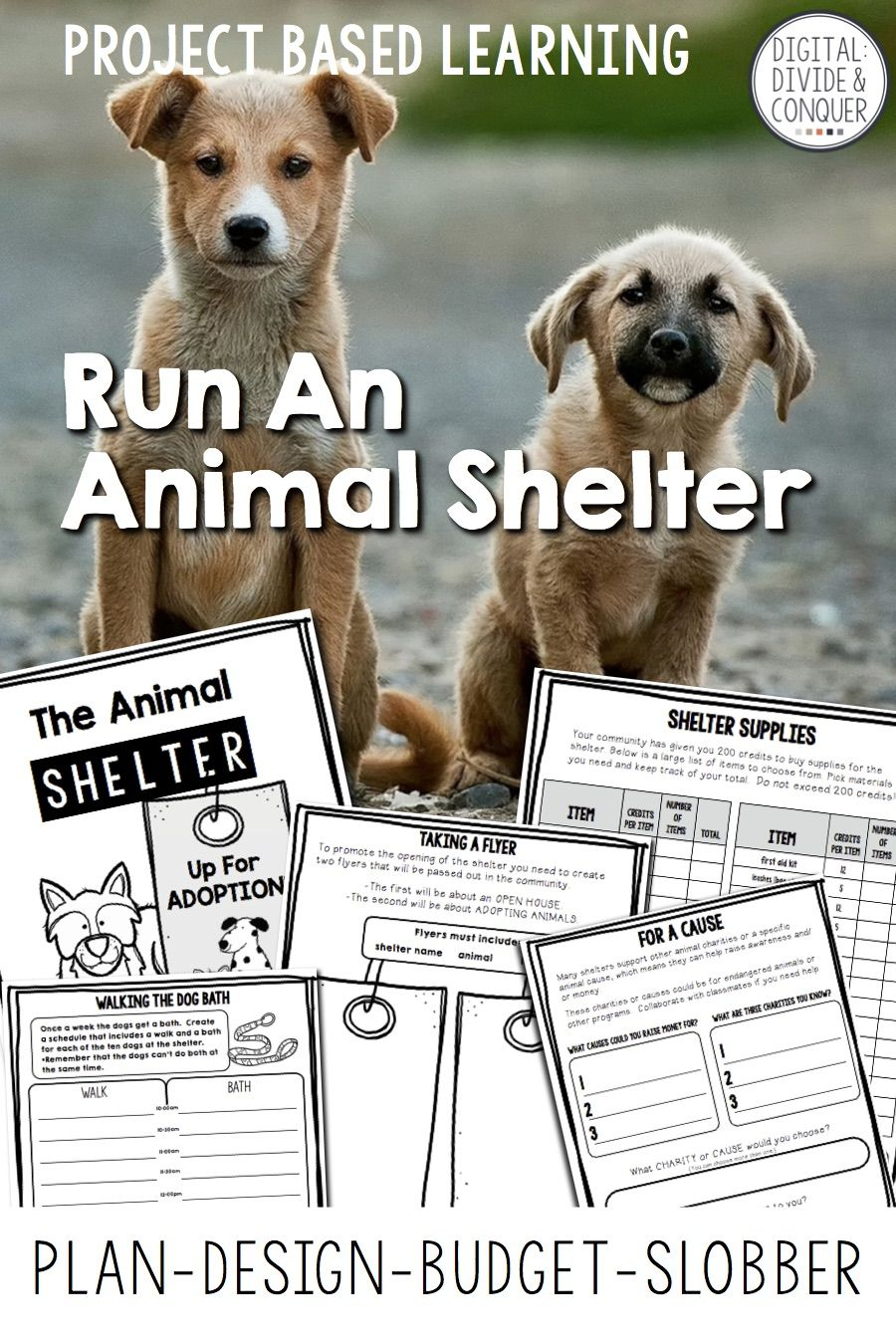 Project Based Learning Run An Animal Shelter Pbl Print Distance Learning Animal Shelter Project Based Learning Animal Rescue Ideas