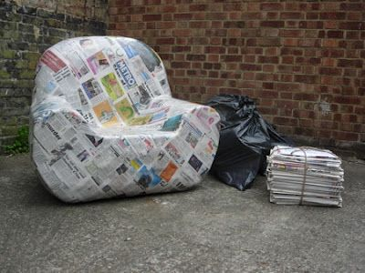 Crafts Diy Paper Mache Arm Chair Made Of 120 Layers Of