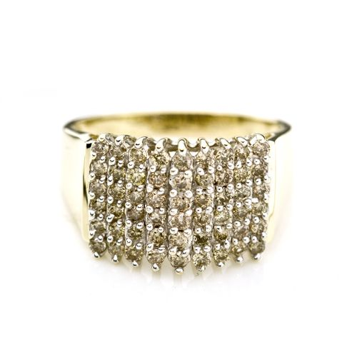 a0a961fb93f81 14K Yellow Gold Champagne 1.0 CTTW Diamond Pyramid Ring $600 | Right ...