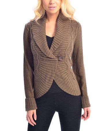 Love this Brown Toggle Cardigan by VICE VERSA on #zulily! #zulilyfinds