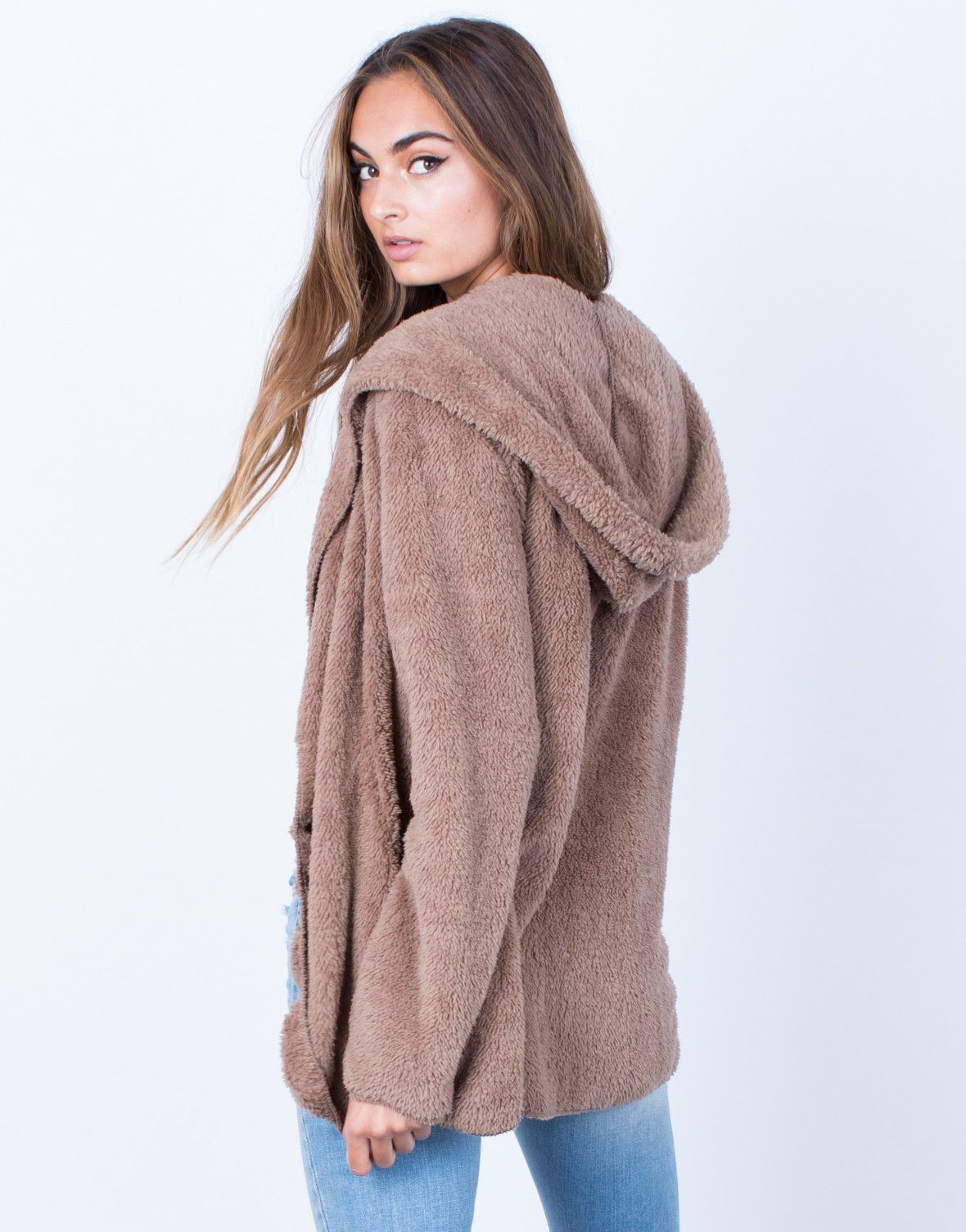 Soft Cozy Hooded Jacket | Cozy, Fur jacket and Holidays