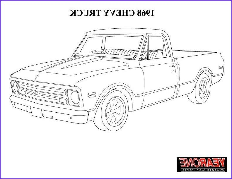 10 Unique Chevy Coloring Pages Gallery Truck Coloring Pages