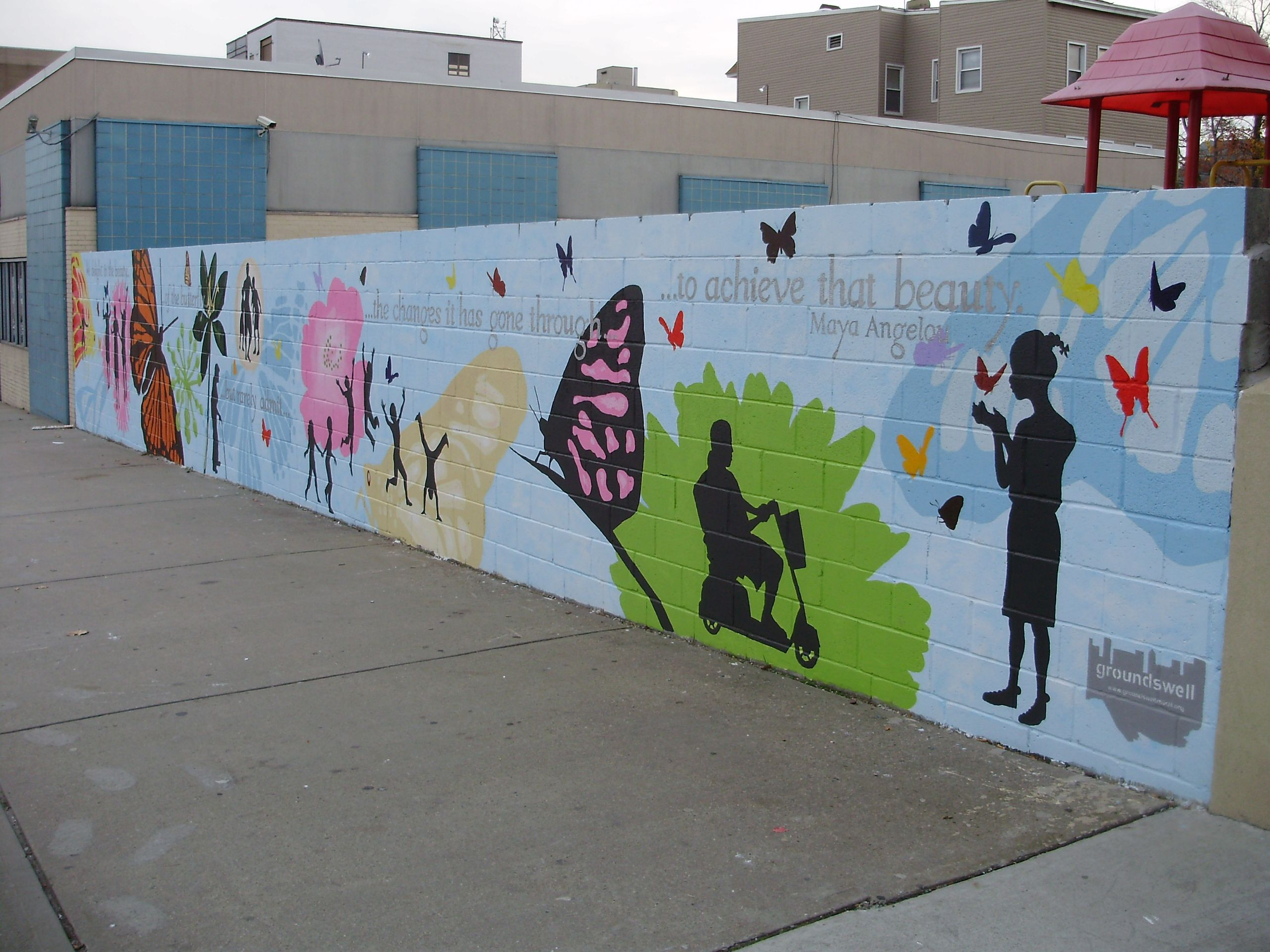 Butterfly mural city murals and youth program summer jobs