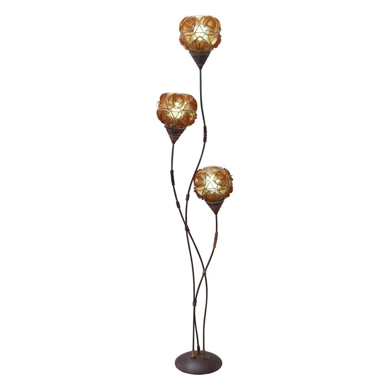 Aspire Home Accents 67639 Cascara Triple Bulb Floor Lamp Lighting Universe Floral Floor Lamp Floor Lamp Torchiere Floor Lamp