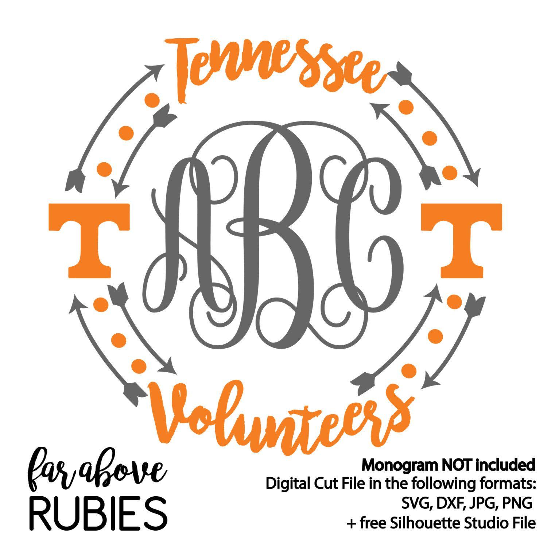 Tennessee Volunteers Monogram Wreath Monogram By