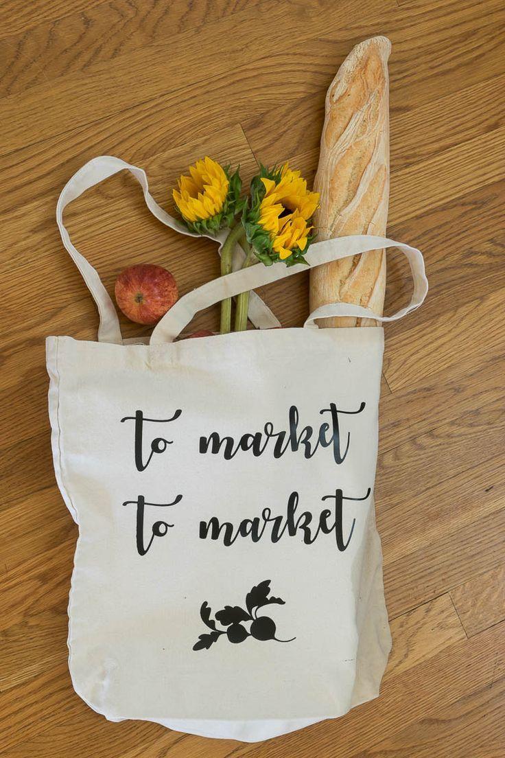 Best diy crafts ideas market bag using cricut iron on vinyl diy