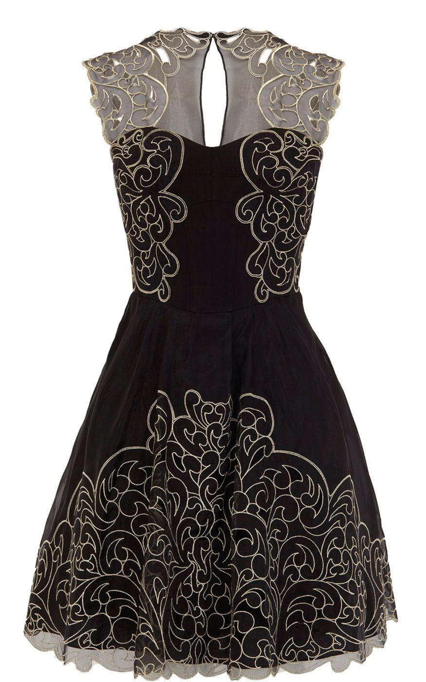 L artiste by amy black dress outline