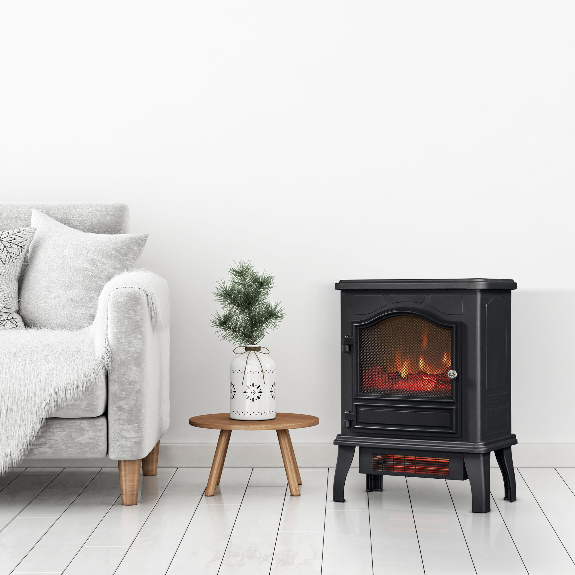 ChimneyFree Infrared Quartz Electric Stove Heater - Walmart.com - Walmart.com