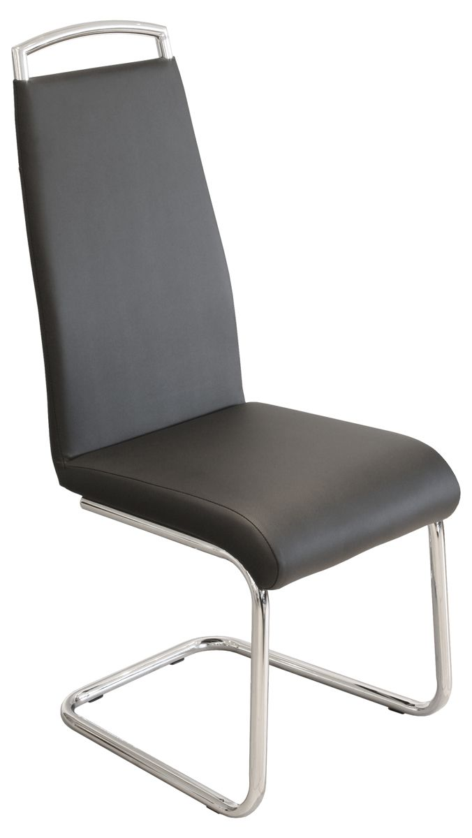 Handle Back Dining Chair With Steel Frame And Legs