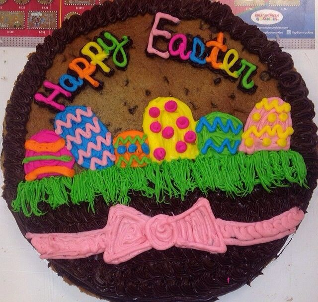 Easter Cookie Cake Giant Cookie Cake Cookie Cake Decorations