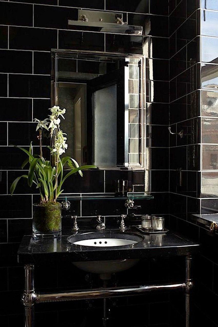 10 Elegant Black Bathroom Design Ideas That Will Inspire You Bathroom Design Luxury Bathroom Design Black Dark Interior Design