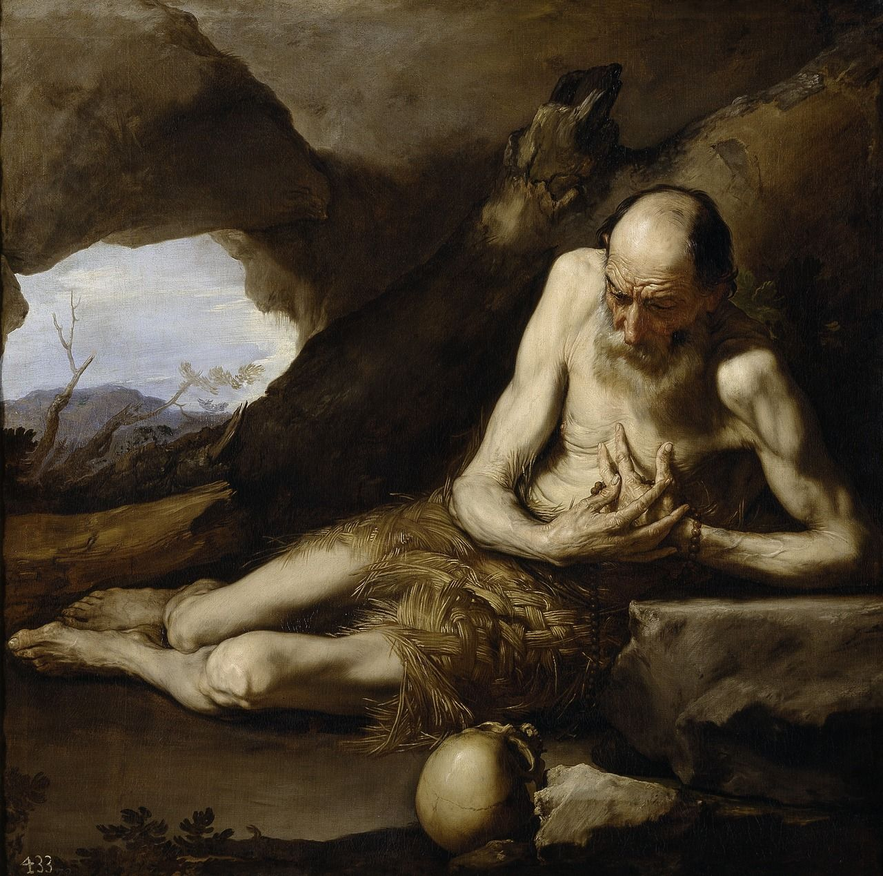 Jusepe de Ribera, Saint Paul the Hermit, 1640. Museo del Prado, Madrid, Spain.