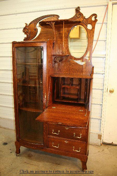 antique secretary desk by Fischer's Furniture Restoration - Antique Secretary Desk By Fischer's Furniture Restoration
