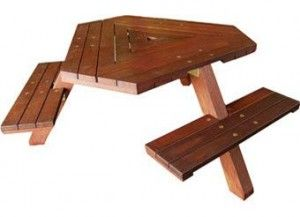 Triangle Outdoor Table Outdoors Pinterest Outdoor Tables - Triangle picnic table