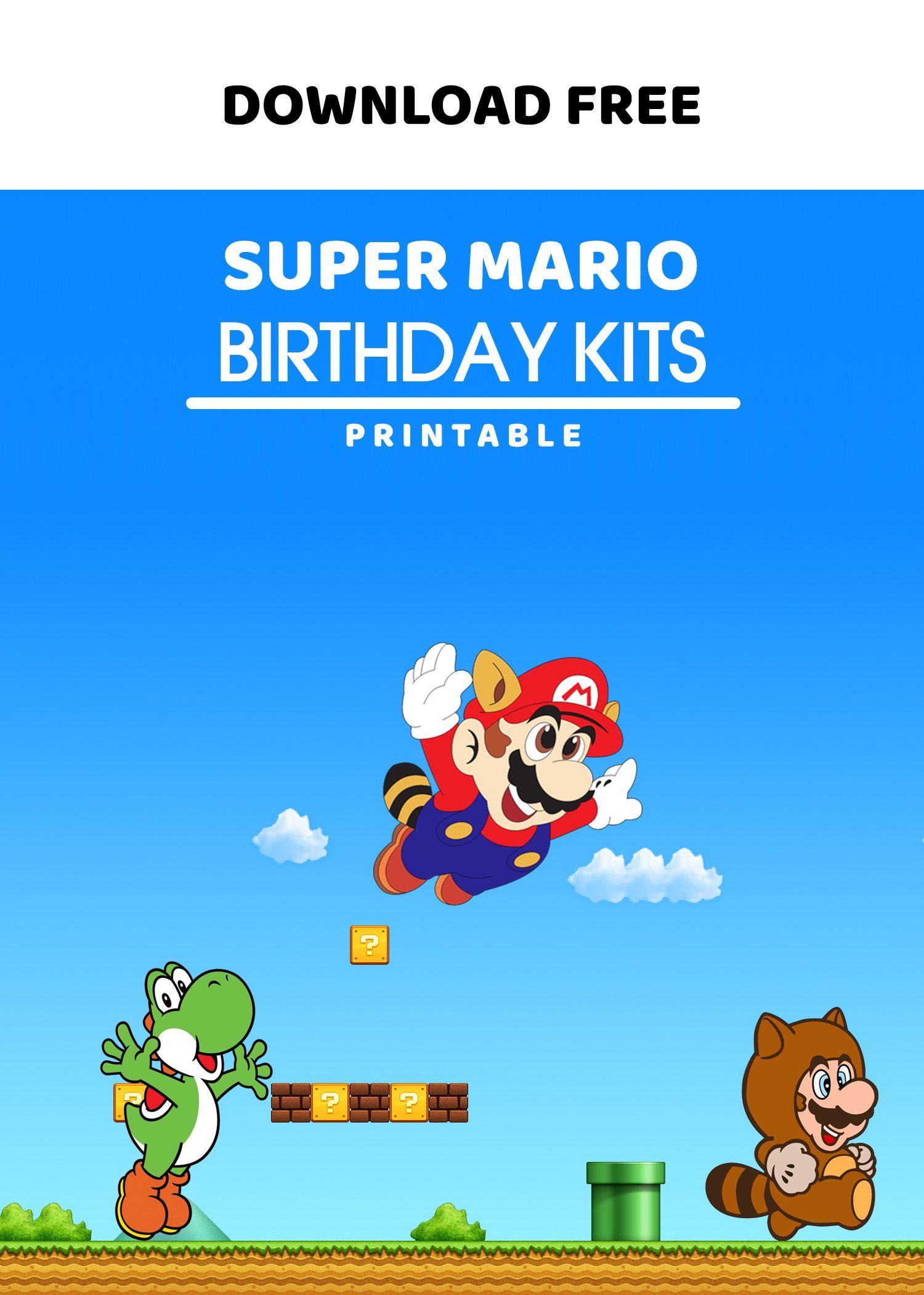 (FREE Printable) - Super Mario Birthday Invitation ...