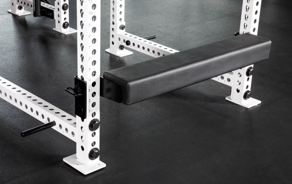 Monster Hip Thruster Bench Shown Attached To A Monster Rack And In Use Squat Rack Hip Thrust Vinyl Cover