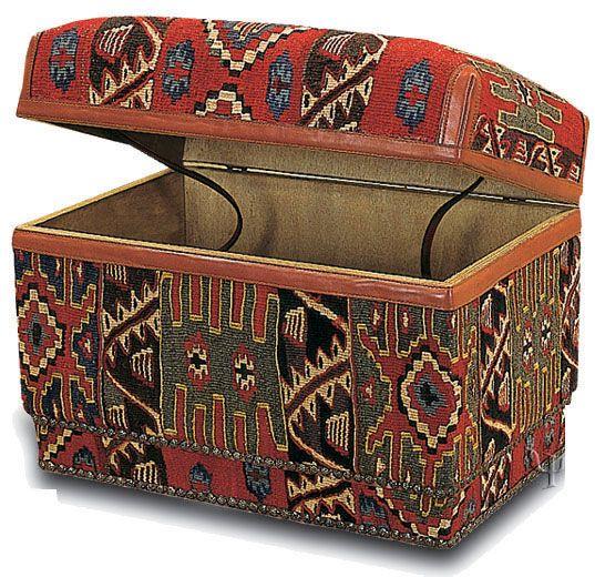 Kilim Furniture | Kilim Ottoman | Kilim Footstool