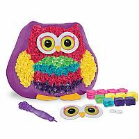 Create a plush Owl Pal pillow!  No sewing!  Match fabric colors to corresponding numbers and push through the pre-punched holes using the stylus. It's so easy!