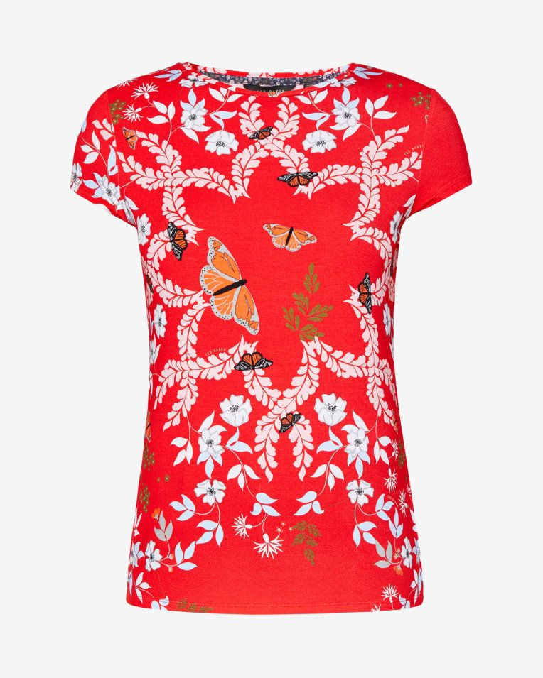 e13d4aebf Kyoto Gardens fitted T-shirt - Bright Red