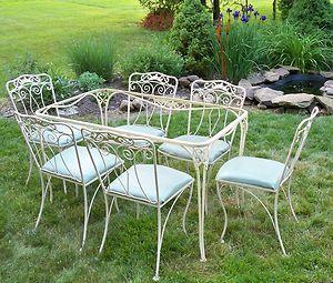 Wrought Iron Cottage Garden Vintage Patio Diy Backyard Patio Patio