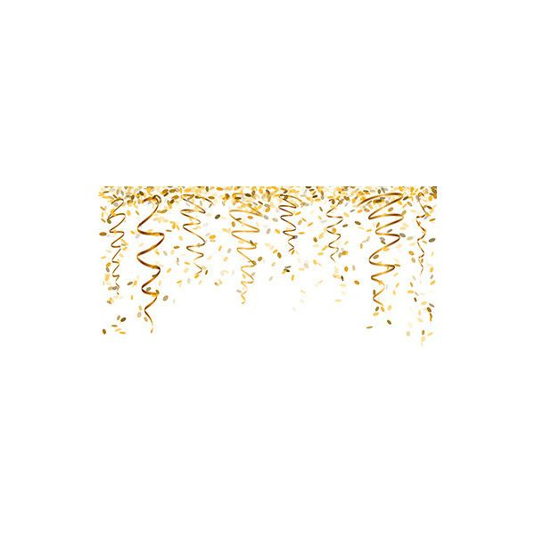 falling gold confetti vector liked on polyvore featuring new year backgrounds borders and effects