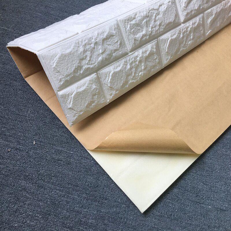 Liljenquist 31 1 X 31 1 Peel And Stick Vinyl Wall Paneling In White Brick Wallpaper Vinyl Wall Panels White Brick Wallpaper