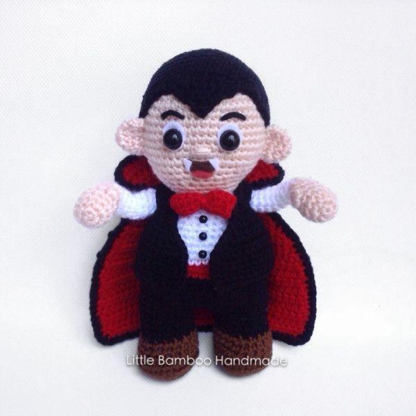 Mr. Dracula amigurumi pattern by Little Bamboo Handmade | Fantasmas ...