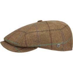 bugatti Karo Melange Flatcap Schirmmütze Wollcap Schiebermütze Wintercap Herrencap Bugatti