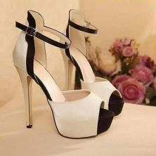 Tacones Tacones Zapatos Zapatos Negro Y Blanco Dama YSq0Y6w