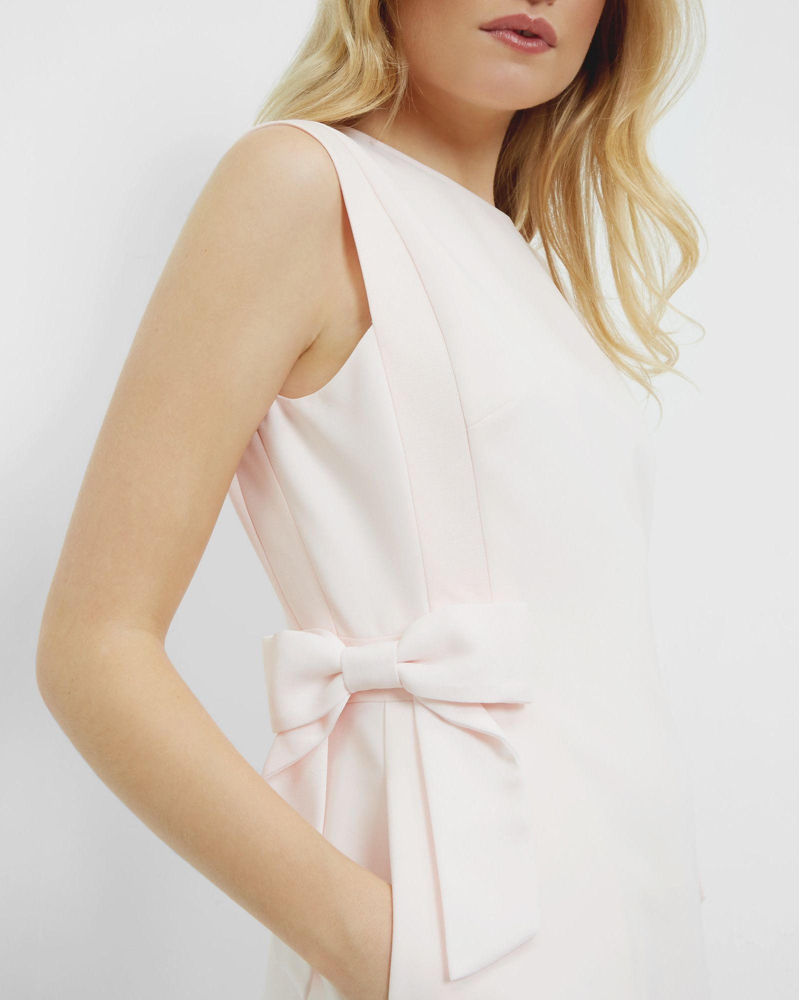 Side bow shift dress - Baby Pink   Dresses   Ted Baker   fashion ...