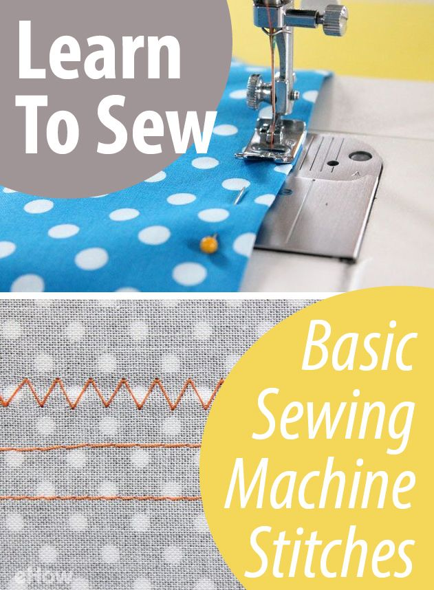 Learn To Sew Basic Sewing Machine Stitches HowTo Pins For Fascinating How To Learn To Sew On A Sewing Machine