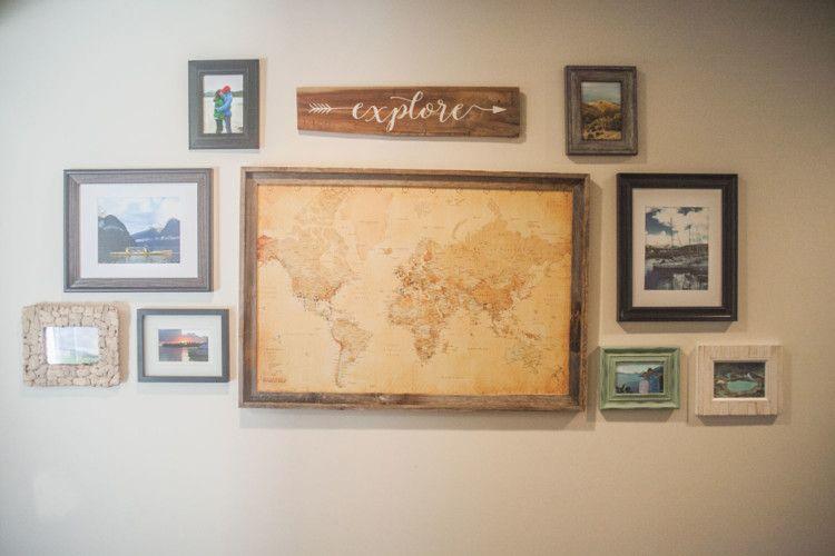 Home: Travel Wall | Walls, Memory wall and Living rooms