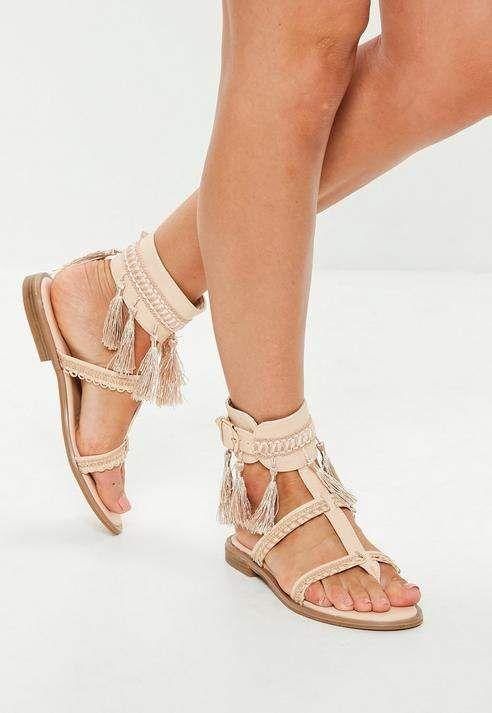 20606cb31a8db3 Nude Tassel Buckle Flat Sandals  ad newarrivals  shoes  shoesaddiction   heels