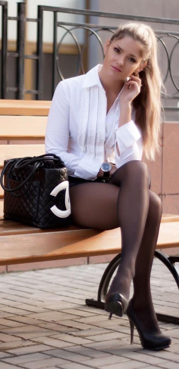 Sexy stockings high heels legs