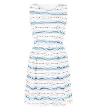 Tenki Blue Floral Stripe Belted Sleeveless Dress   Shops, Ärmellose ... a0292f45d9