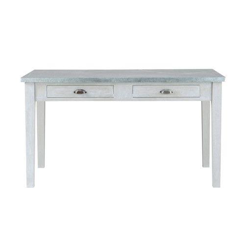 Tavolo grigio per sala da pranzo in acacia L 140 cm
