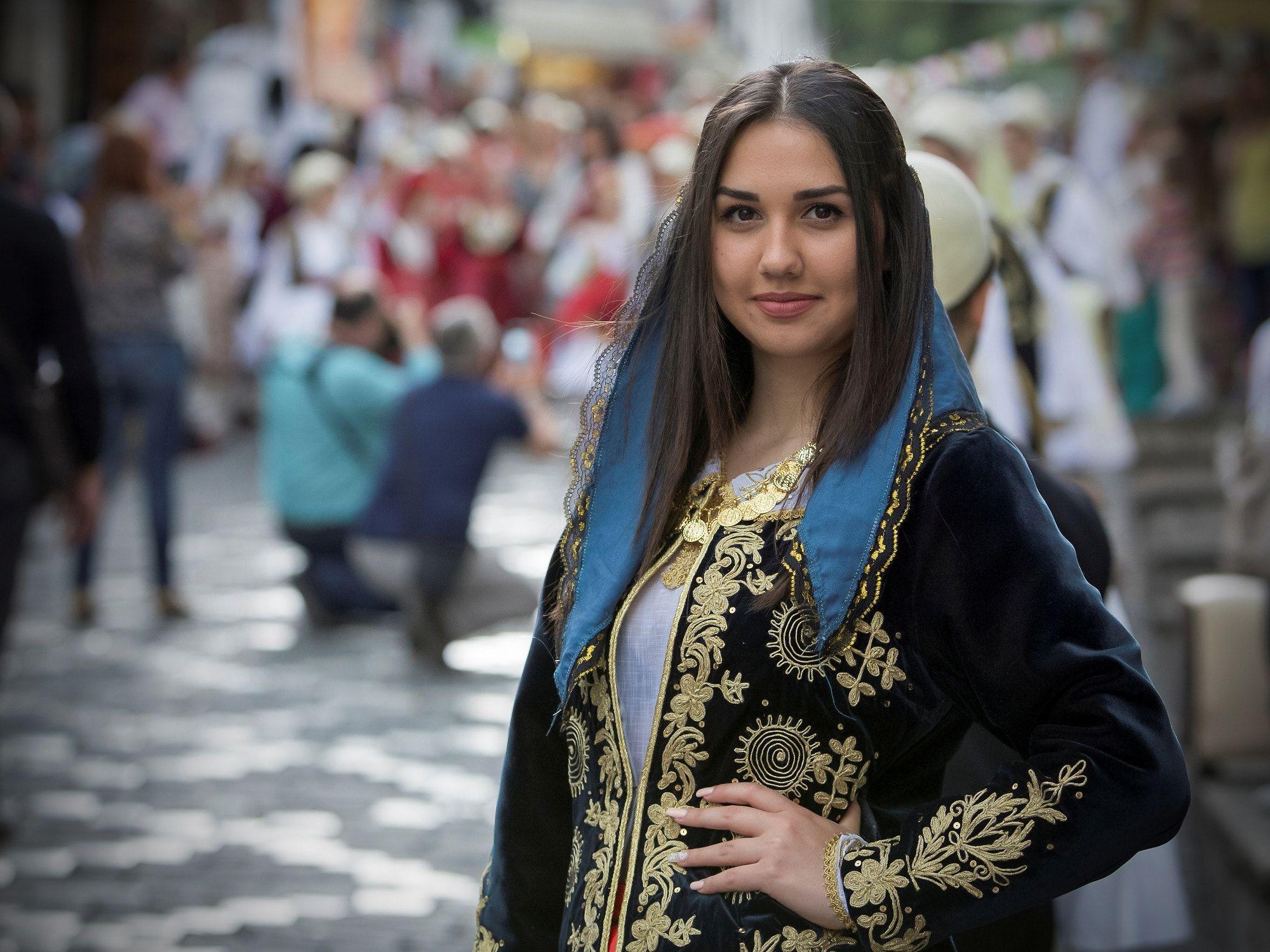 Albanian girl at the Gjirokastër folk festival | Albanians