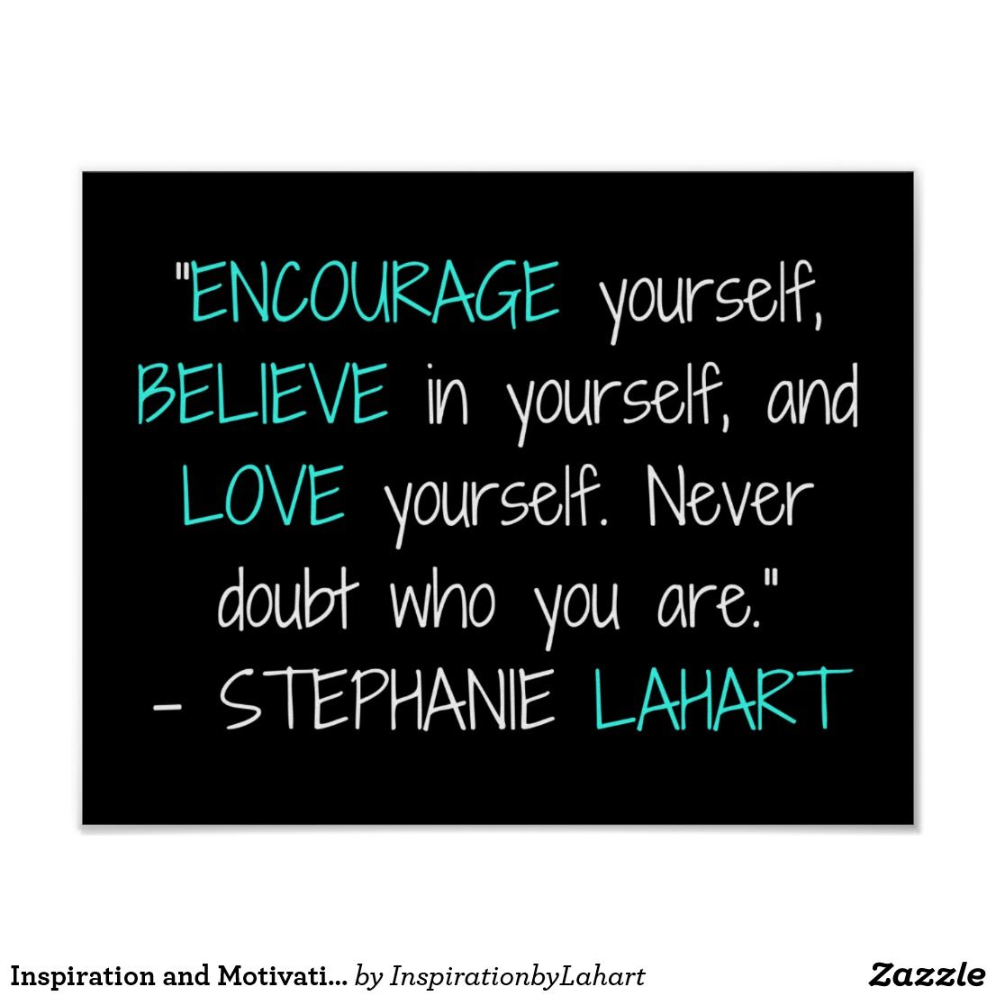 Inspiration and Motivation Quote Poster  Zazzle.com in 3