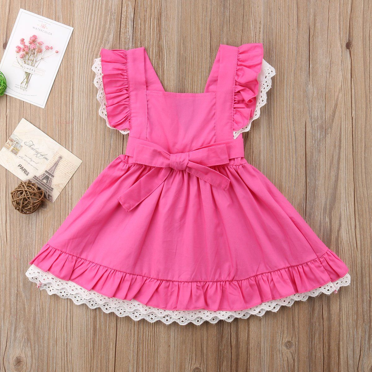Rosy Kids Baby Girl Toddler Girl Ruffle Lace Romper Set