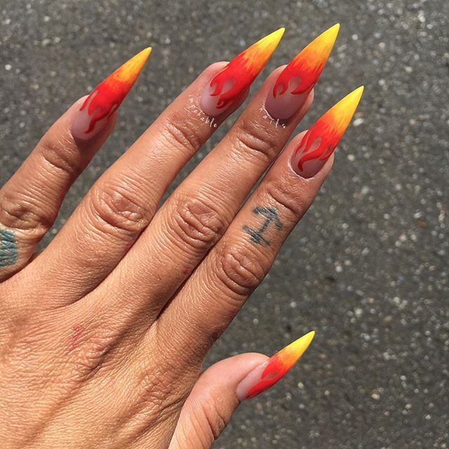 Everyday we LIT 🔥 #ImpekableNails #SeattleNails #Lit #Fire
