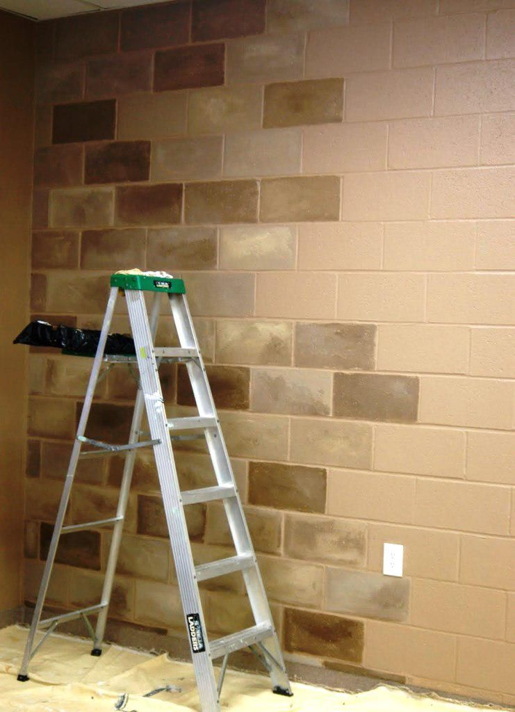 Painting Cinder Block Basement Walls All In One Wall