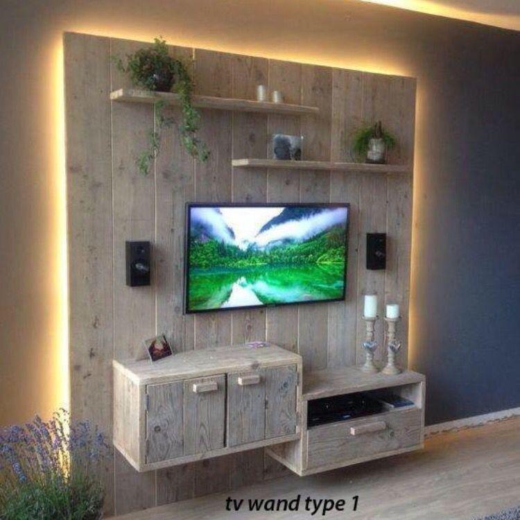 Cool Steigerhouten wand met led verlichting. | pallet ideas | Pinterest  AU88