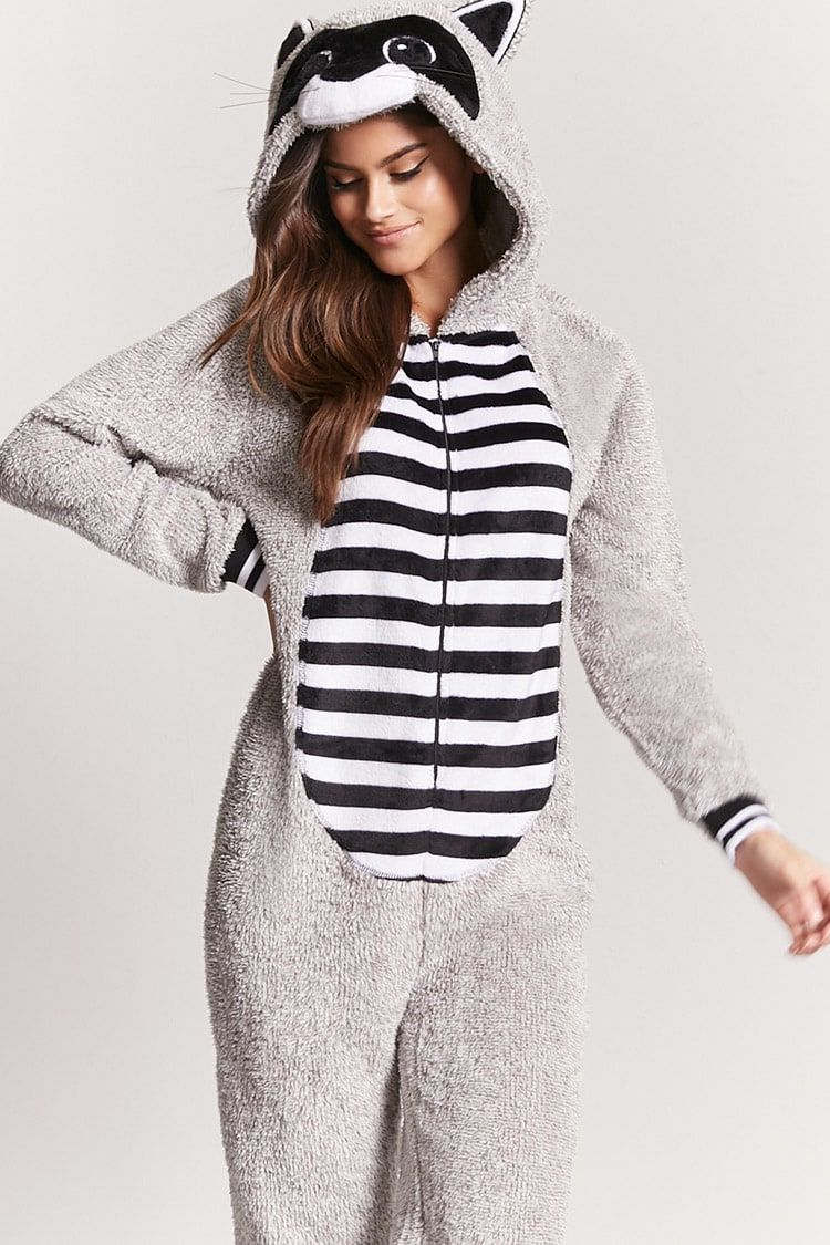 54291045 Product Name:Plush Raccoon Pajama Onesie, Category ...